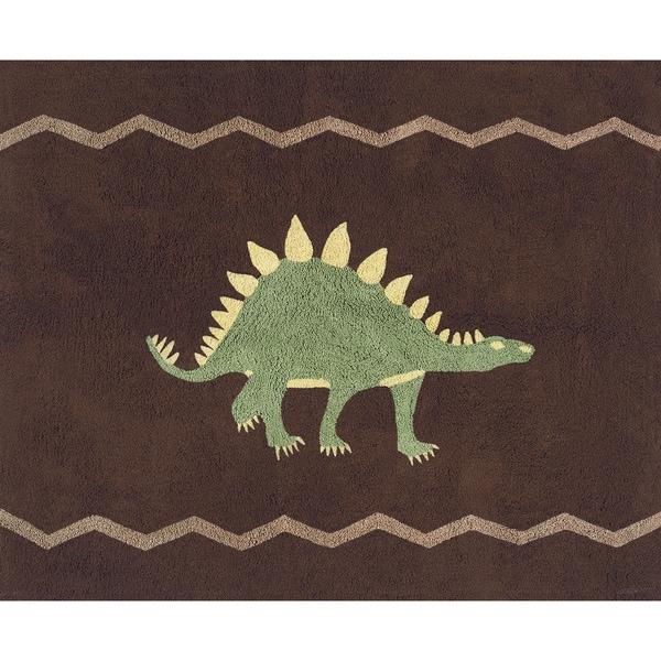 Shop Sweet Jojo Designs Dinosaur Cotton Floor Rug 2 6 X