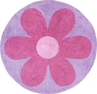 Sweet JoJo Designs Danielle's Daisies Cotton Floor Rug