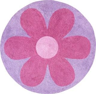Sweet JoJo Designs Danielle's Daisies Cotton Floor Rug