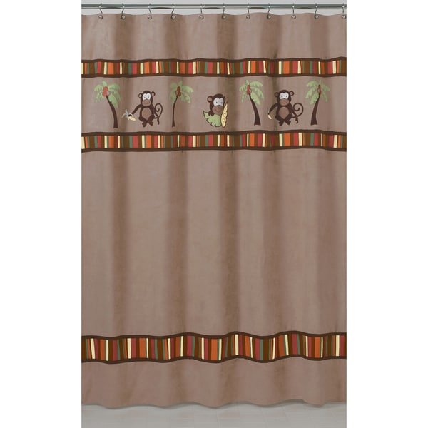 Sweet Jojo Designs Monkey Kids Shower Curtain