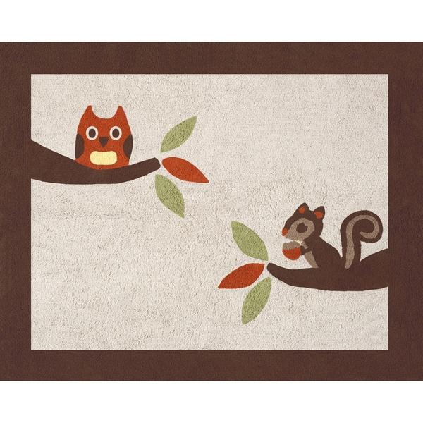 Shop Sweet Jojo Designs Forest Friends Cotton Floor Rug