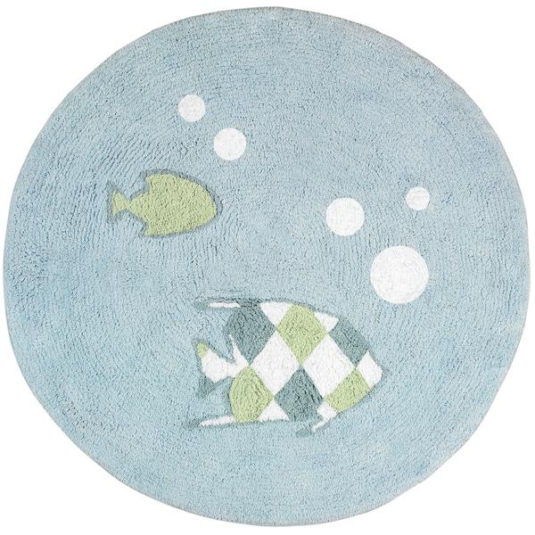 Sweet JoJo Designs Go Fish Cotton Floor Rug