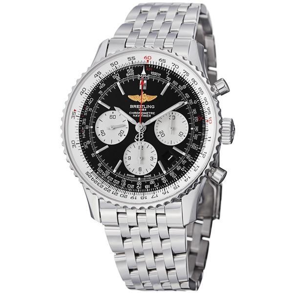Breitling Men's 'Navitimer' Black Dial Steel Chronograph Watch