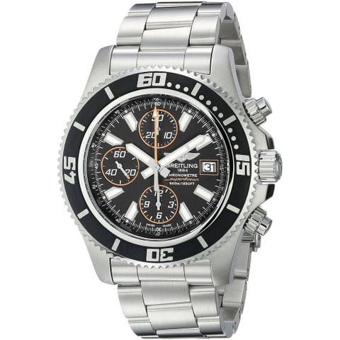 Breitling Men's 'SuperOcean Chrono' Black Dial Automatic Watch