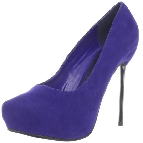Fahrenheit Women's 'Carey' Metallic Silhouette Heels