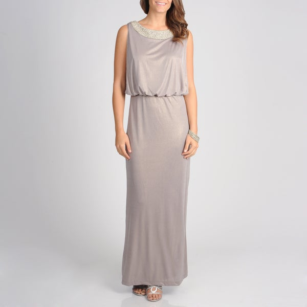 Women's Blouson Jersey Knit Gown