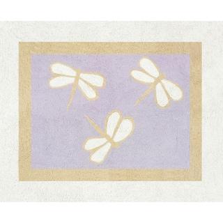 Sweet JoJo Designs Purple Dragonfly Dreams Cotton Floor Rug