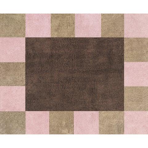 Sweet JoJo Designs Soho Pink and Brown Cotton Floor Rug