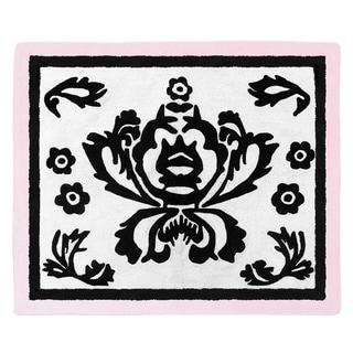 Sweet JoJo Designs Pink Border Sophia Floor Rug