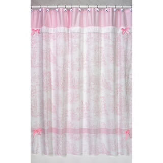 Sweet Jojo Designs Pink French Toile Shower Curtain