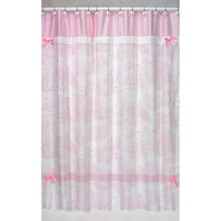 Sweet Jojo Designs Pink French Toile Shower Curtain|https://ak1.ostkcdn.com/images/products/7601879/7601879/Pink-French-Toile-Shower-Curtain-P15025710.jpg?impolicy=medium