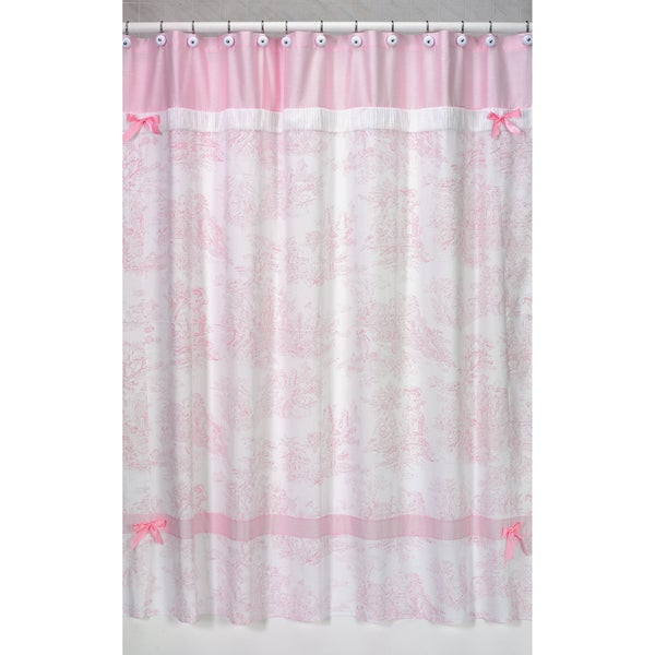 Bathroom Wallcovering French Toile Room Decor Bathroom: Shop Sweet Jojo Designs Pink French Toile Shower Curtain