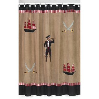 Sweet Jojo Designs Treasure Cove Pirate Kids Shower Curtain