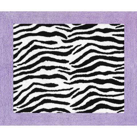 Sweet JoJo Designs Purple Funky Zebra Floor Rug
