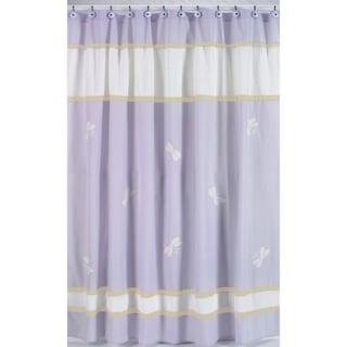 Sweet Jojo Designs Purple Dragonfly Dreams Kids Shower Curtain