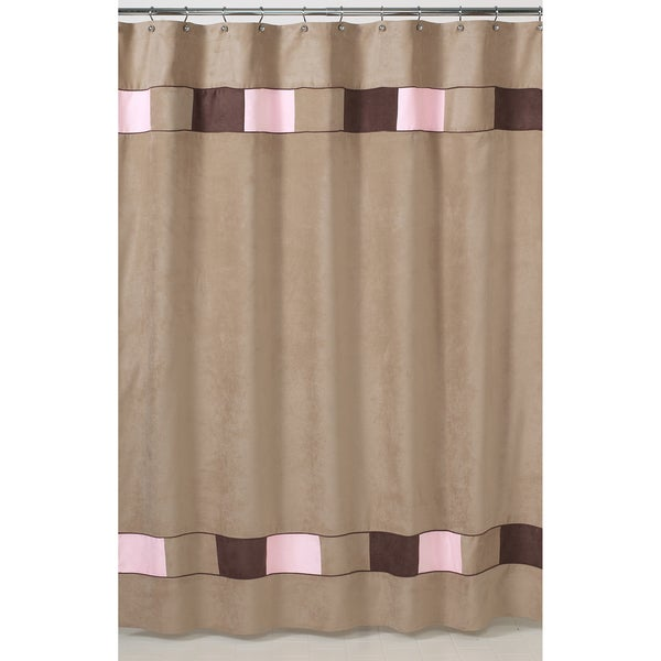 Laura Ashley Curtain Panels Chocolate Brown Shower Curtain