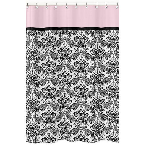Pink and Black Sophia Shower Curtain