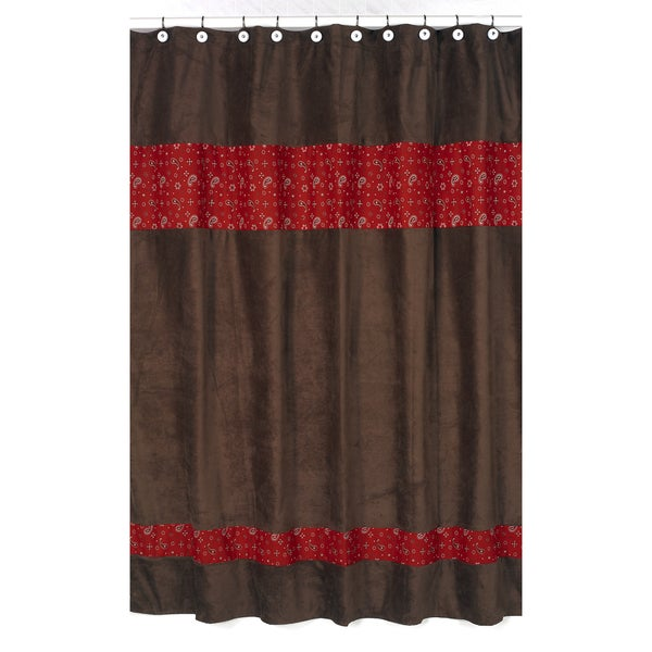Sweet Jojo Designs Wild West Cowboy Western Bandana Shower Curtain
