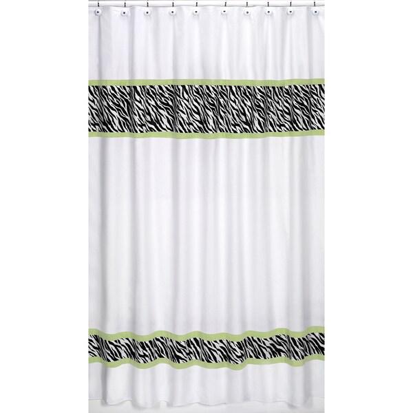 Sweet Jojo Designs Lime Funky Zebra 84-inch Curtain Panel Pair