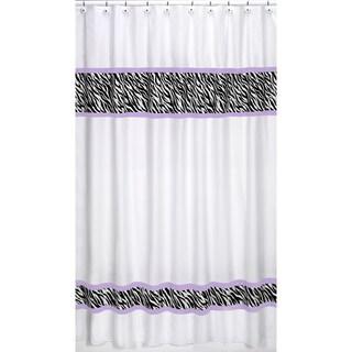 Sweet Jojo Designs Purple Funky Zebra Shower Curtain