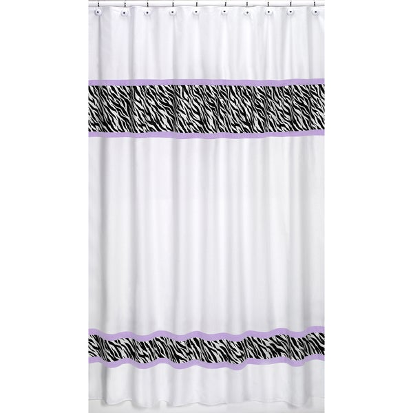 Sweet Jojo Designs Purple Funky Zebra Shower Curtain