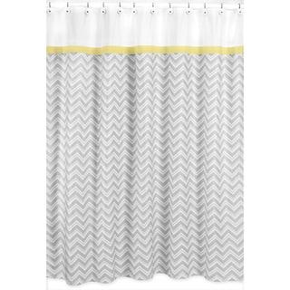 Sweet Jojo Designs Yellow And Grey Zig Zag Shower Curtain