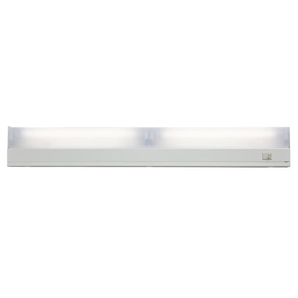 Undercabinet White 2-light Fixture