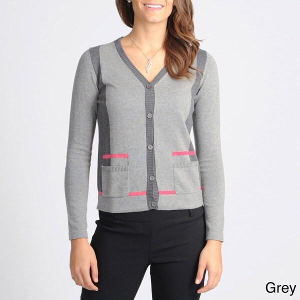 Yal New York Women's Colorblock Cardigan Sweater