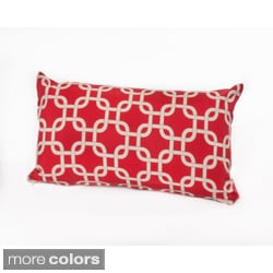 Chateau Designs Outdoor Lumbar Pillow with Links Pattern (12 x 20)