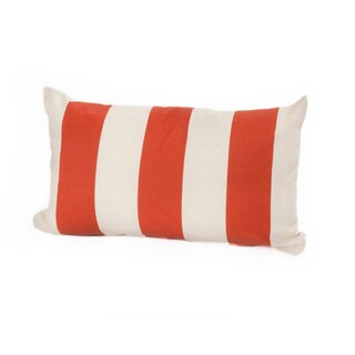 Porch & Den Hopecrest Dorsey Outdoor Striped Lumbar Pillow