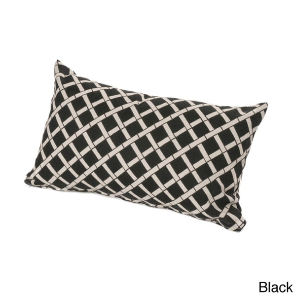 Chateau Designs Outdoor Lumbar Pillow with Bamboo Pattern (12 x 20)