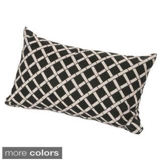 chateau designs outdoor lumbar pillow with bamboo pattern 12 x 20