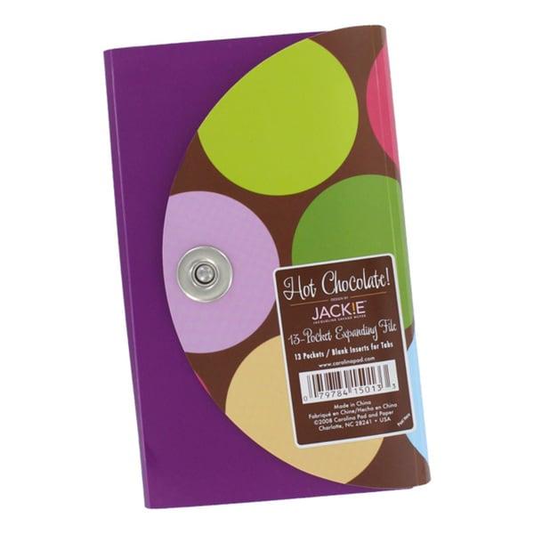 Carolina Pad Jackie Hot Chocolate 13-Pocket Coupon Organizer