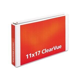 Cardinal ClearVue Slant-D White Ring Binder