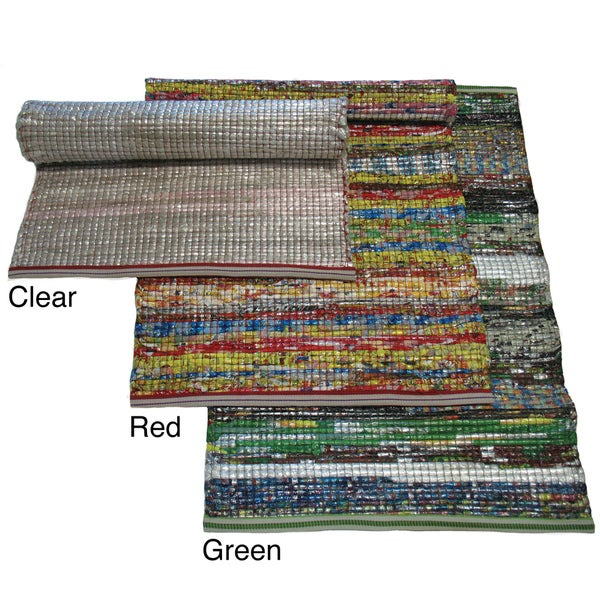 Handmade Indo Indoor/Outdoor Multicolored Recycled Mat (2' x 3')