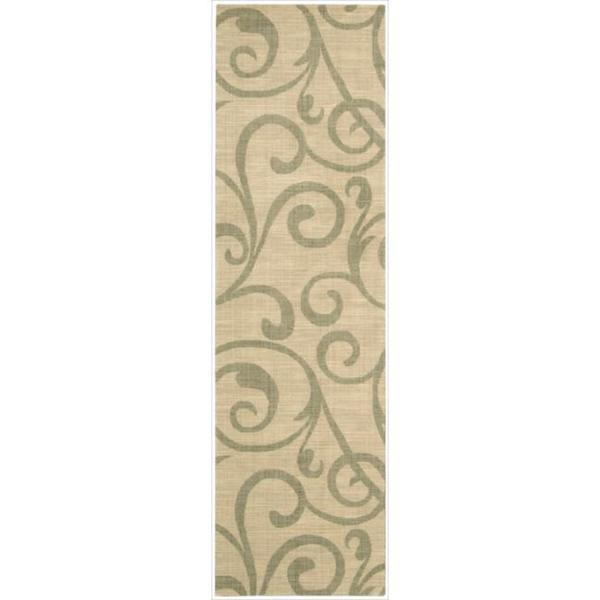 Riviera Light Gold Wool Blend Rug - 2'3 x 8'