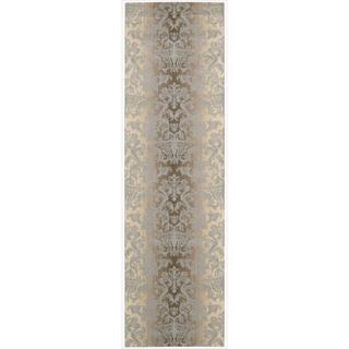 Riviera Mocha/Beige Wool Blend Rug (2'3 x 8')