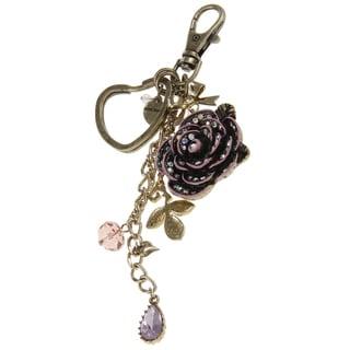 Betsey Johnson Rose Heart Key Chain