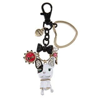 Betsey Johnson French Bulldog Key Chain