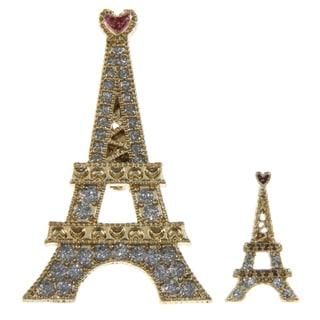 Betsey Johnson Eiffel Tower 2-peice Pin Set