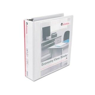 Universal Round-Ring Economy Vinyl/ Metal View White Binder (Pack of 4)