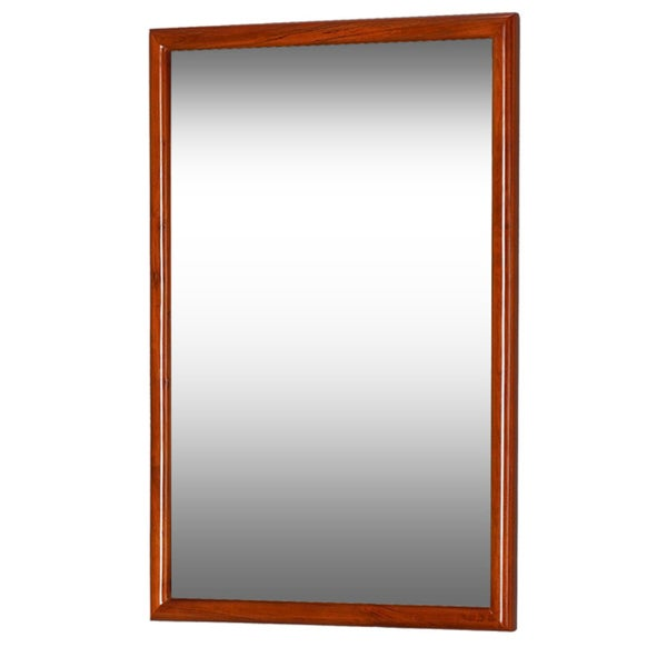 Bathroom Mirror Overstock dreamline framed maple bathroom mirror - free shipping today
