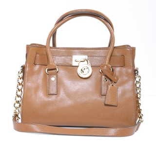 Michael Kors 'Hamilton' Luggage Brown Satchel Bag