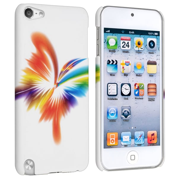 BasAcc White/ Butterfly Style 7 Case for Apple iPod Touch Generation 5