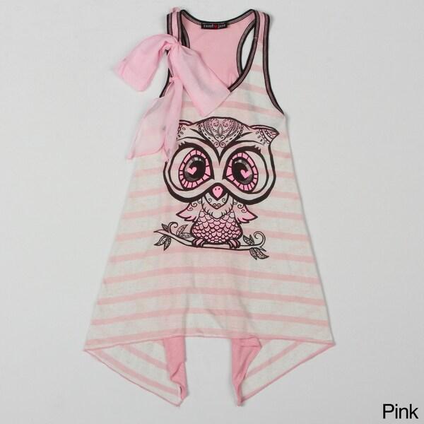 Sweetheart Jane Short Sleeve Owl Printed Tunic.