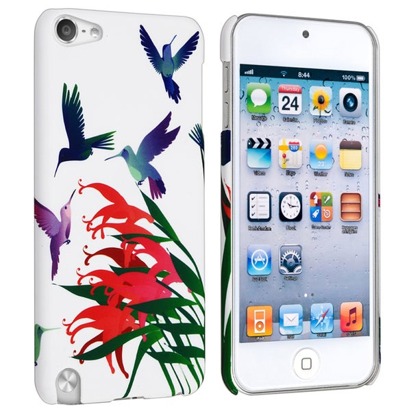 INSTEN White/ Bird Rear Style 1 Case Cover for Apple iPod Touch Generation 5