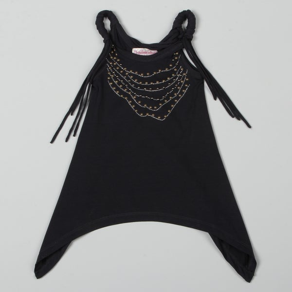 Paulinie Collection Girl's Stud Necklace Tank Top