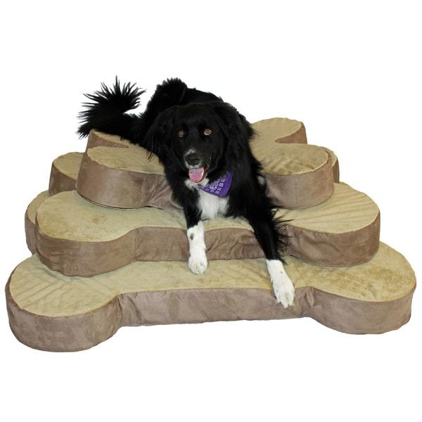 Integrity Bedding 5-inch Bone Shaped Memory Foam Dog Bed