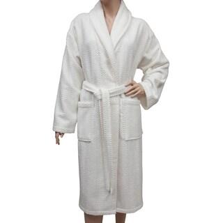 Authentic Hotel Spa Herringbone Weave Turkish Cotton Unisex Bath Robe (More options available)