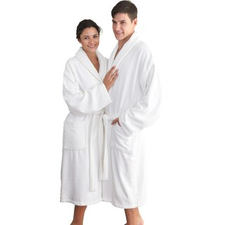 Authentic Hotel Spa Herringbone Weave Turkish Cotton Unisex Bath Robe (Option: White)